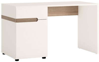 Chelsea Dressing Table - Truffle Oak and High Gloss White