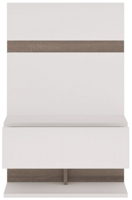 Chelsea Extension Bedside - Truffle Oak and High Gloss White