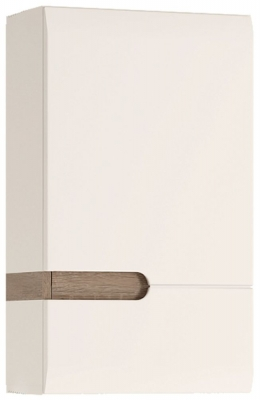 Chelsea Right Hand Facing Wall Cupboard - Truffle Oak and High Gloss White