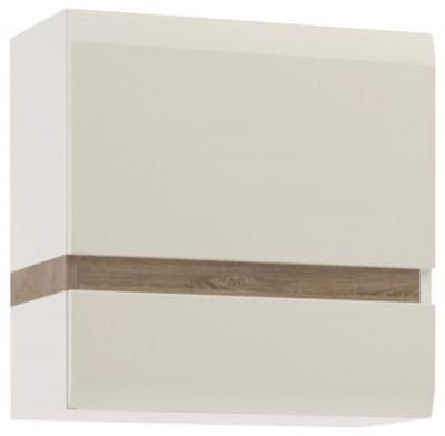 Chelsea Wall Cupboard - Truffle Oak and High Gloss White