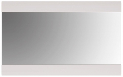 Chelsea Rectangular Wall Mirror - 109.5cm x 69cm White High Gloss