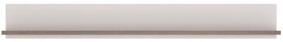 Chelsea Wall Shelf - Truffle Oak and High Gloss White