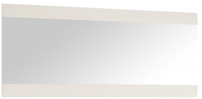 Chelsea White High Gloss Wall Mirror with Truffle Oak Trim