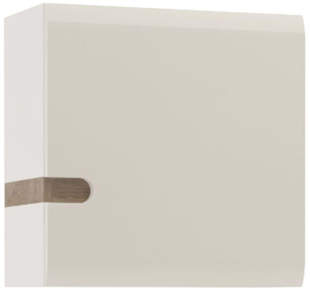 Chelsea 1 Door Wall Cupboard - Truffle Oak and High Gloss White