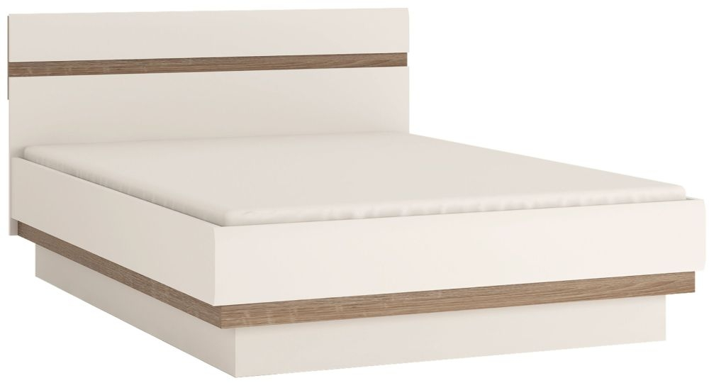 Chelsea Bed - Truffle Oak and High Gloss White