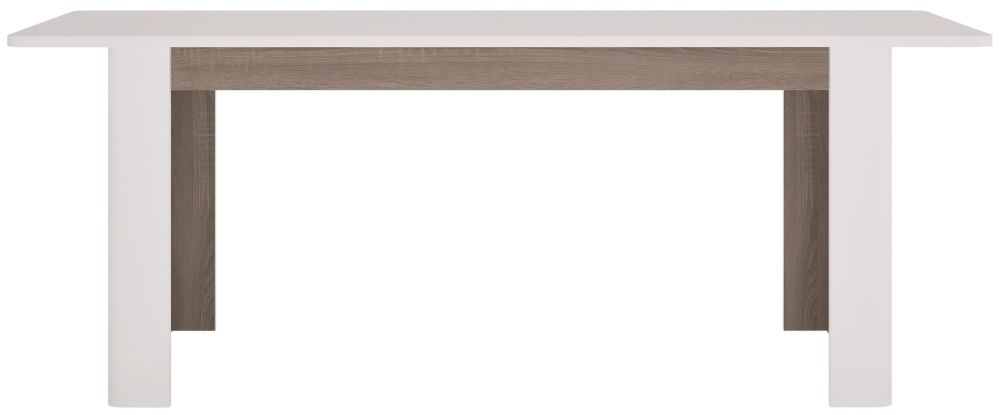 Chelsea Extending Dining Table - Truffle Oak and High Gloss White