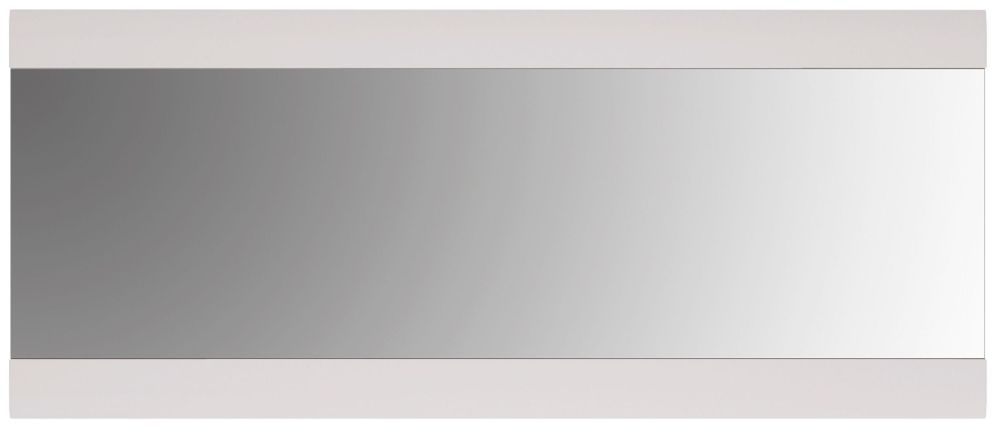 Chelsea Rectangular Wall Mirror - 164cm x 69cm White High Gloss