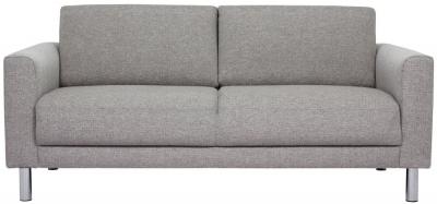 Cleveland Nova Light Grey Fabric 2 Seater Sofa