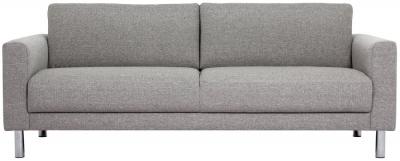 Cleveland Nova Light Grey Fabric 3 Seater Sofa