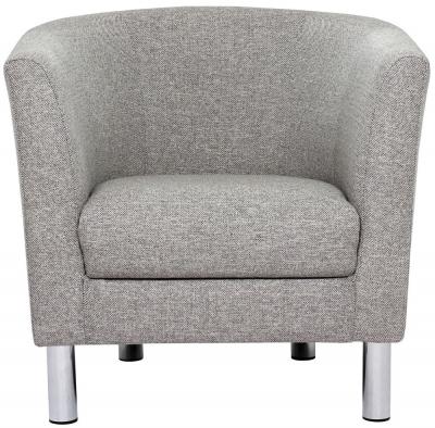 Cleveland Nova Light Grey Fabric Armchair