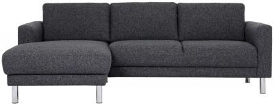 Cleveland Nova Antracit Fabric longue Chaise Left Hand Side Sofa
