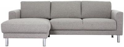 Cleveland Nova Light Grey Fabric longue Chaise Left Hand Side Sofa
