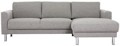 Cleveland Nova Light Grey Fabric longue Chaise Right Hand Side Sofa