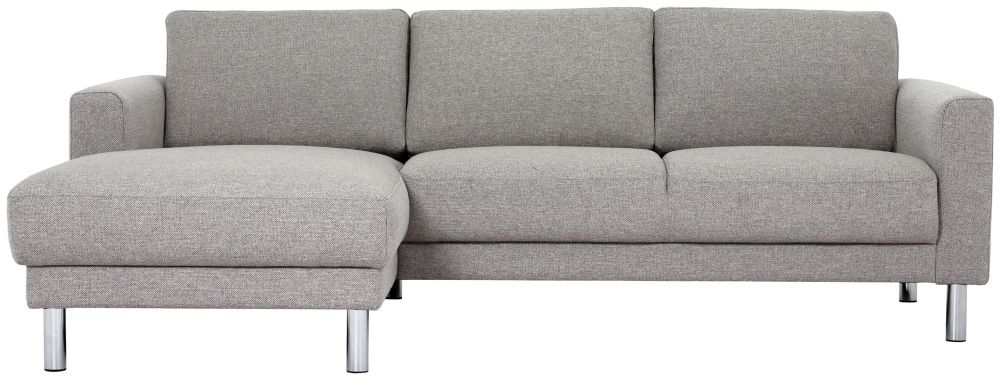 Cleveland Nova Light Grey Fabric longue Chaise Left Hand Side Sofa