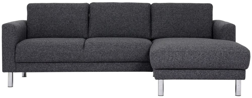 Cleveland Nova Antracit Fabric longue Chaise Right Hand Side Sofa