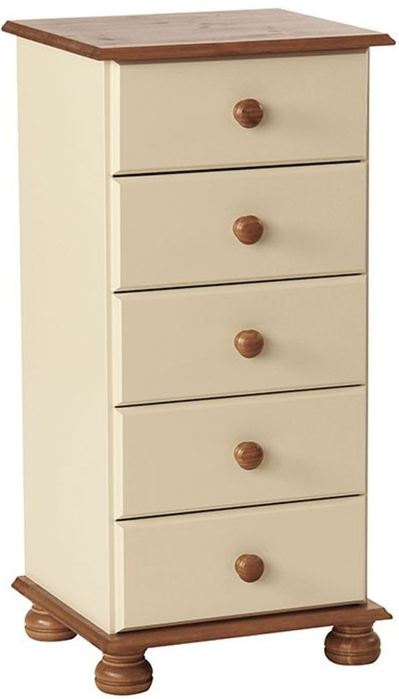Copenhagen Cream 5 Drawer Narrow Chest