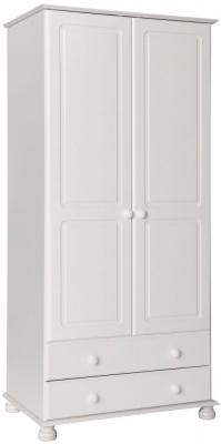 Copenhagen White 2 Door Tall Wardrobe