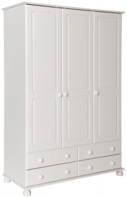 Copenhagen White 3 Door Wardrobe