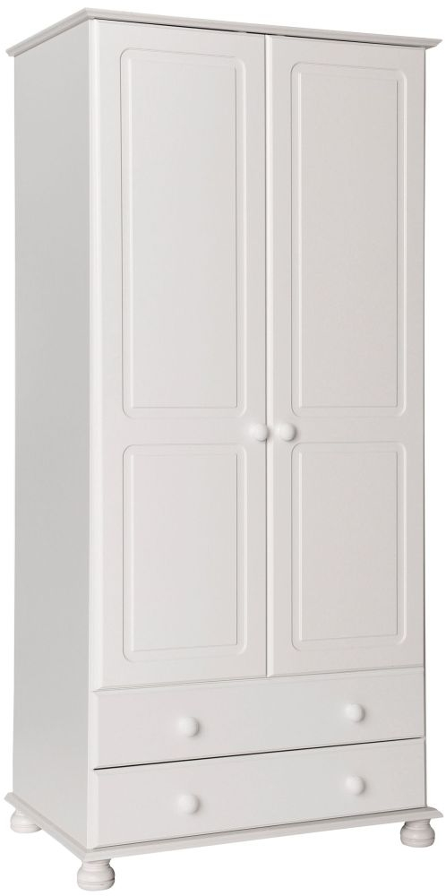Copenhagen White 2 Door Tall Wardrobe