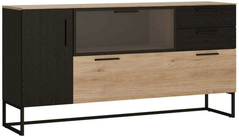 Cordoba Glazed Sideboard - Light Jackson Hickory and Dark Accents