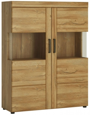 Cortina Grandson Oak Low Wide Display Cabinet