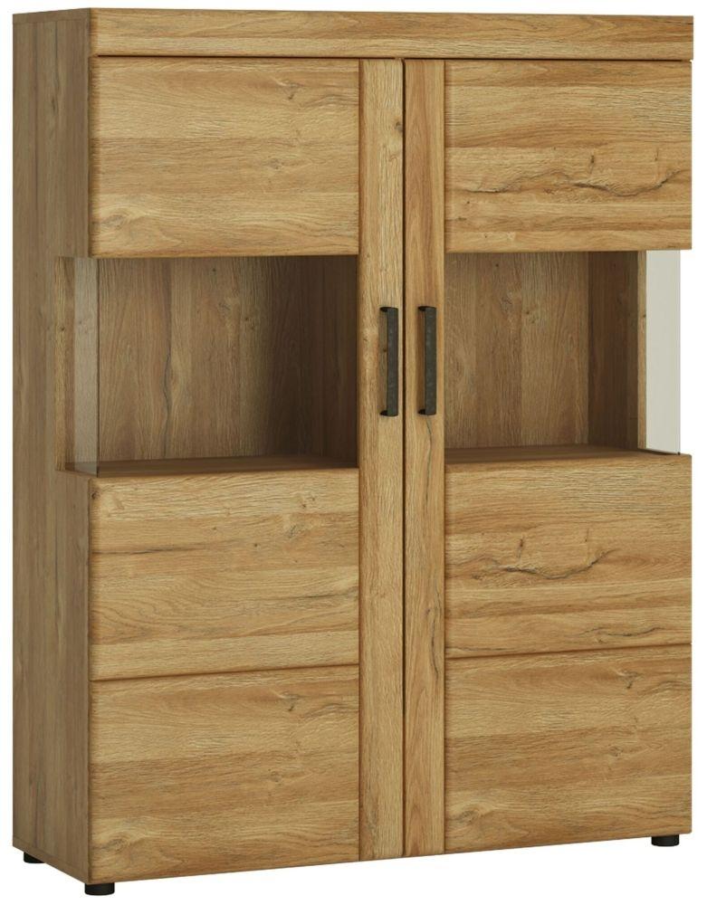 Cortina Grandson Oak Low Wide Display Cabinet
