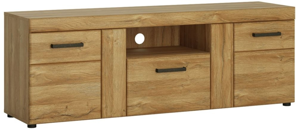 Cortina Grandson Oak Tall TV Cabinet