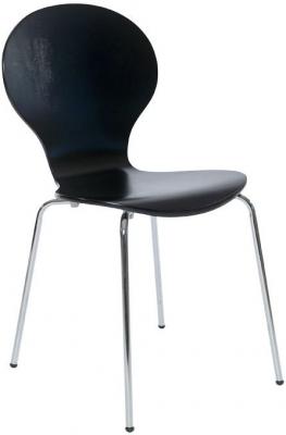 Designa Black Ash Dining Chair with Chrome Legs (Set of 4)