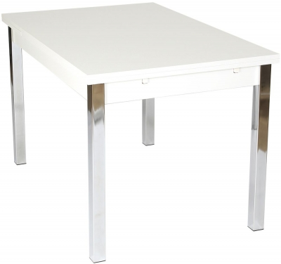 Designa White Dining Table - Extending