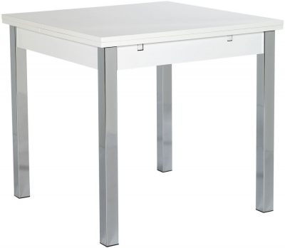Designa White Dining Table - Wide Extending