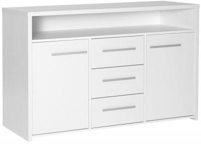 Designa White Sideboard - 2 Door 3 Drawer