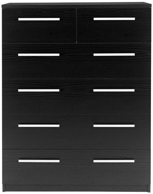 Designa Black Ash Chest of Drawers - 2+4 Drawer