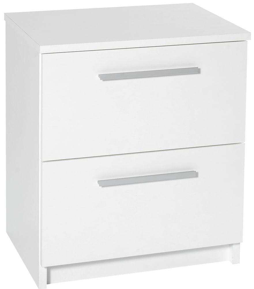Designa White Bedside Cabinet