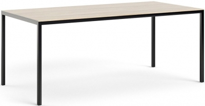 Family Oak and Black 180cm Dining Table