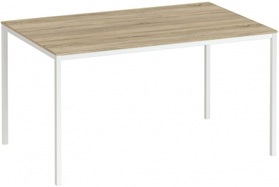 Family Oak and White 140cm Dining Table