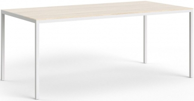 Family Oak and White 180cm Dining Table