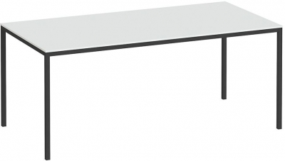 Family White and Black 180cm Dining Table