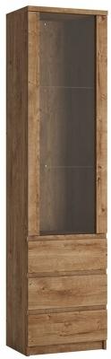 Fribo Oak Tall Narrow Display Cabinet