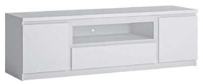 Fribo White Large TV Cabinet