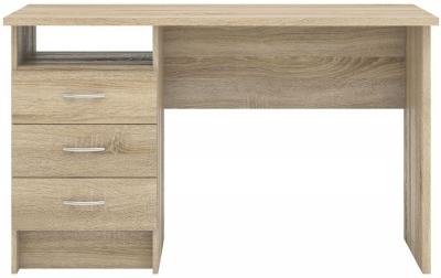 Function Plus 3 Drawer Desk - Oak