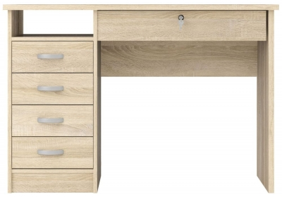 Function Plus 5 Drawer Desk - Oak