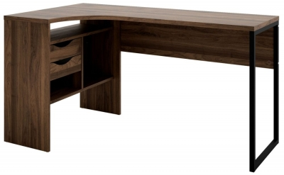 Function Plus Corner Desk - Walnut