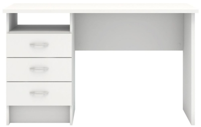 Function Plus 3 Drawer Desk - White