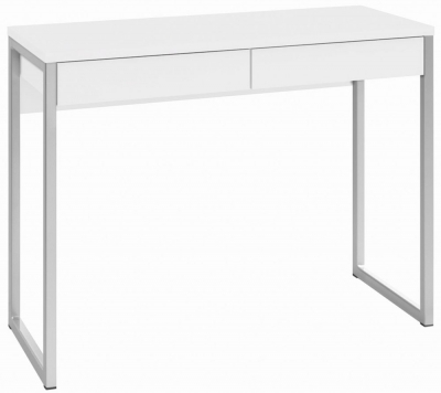 Function Plus Desk - White High Gloss
