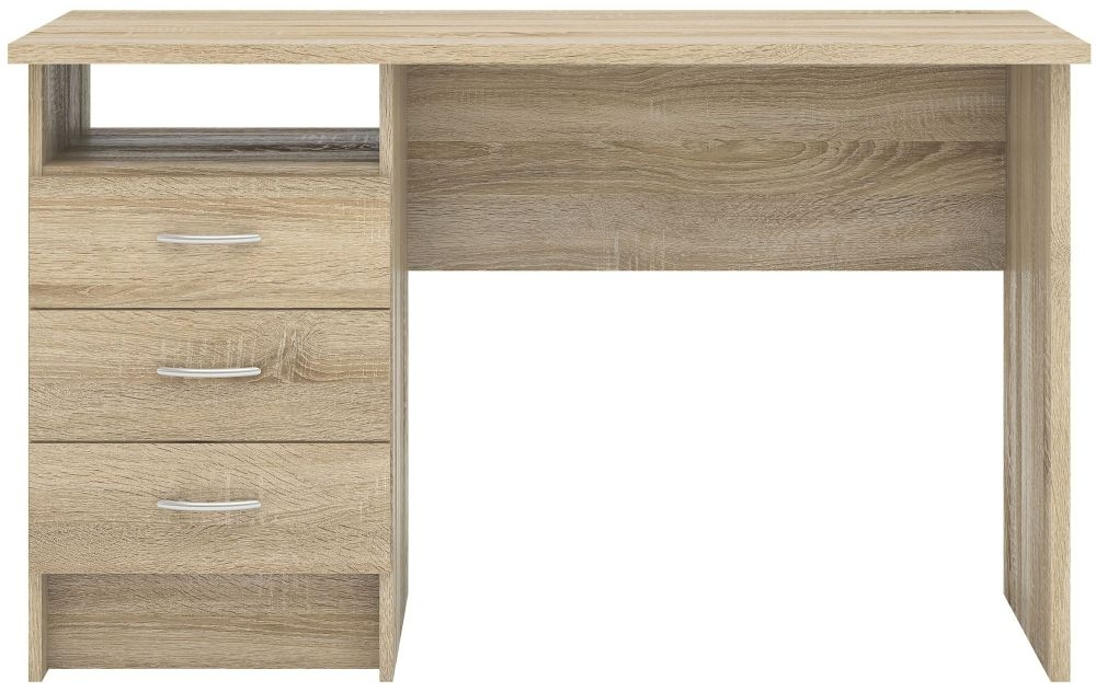 Function Plus 3 Drawer Desk - Oak