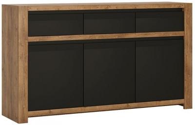 Havana Sideboard - Oak and Black