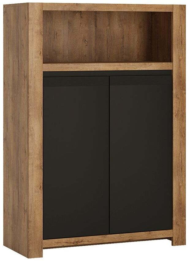 Havana Cupboard - Oak and Black