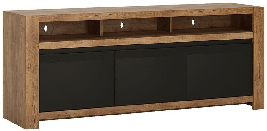 Havana TV Unit - Oak and Black