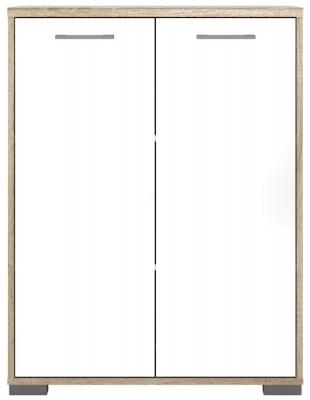 Homeline Sideboard - Oak and White High Gloss