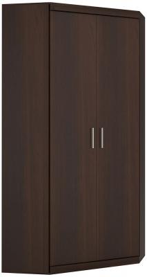 Imperial Dark Mahogany Melamine Cabinet - Tall Corner